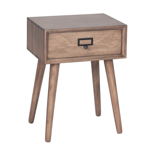 Desert Brown 1 Drawer Accent Table