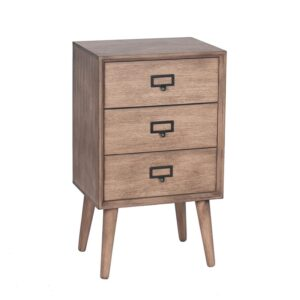 Desert Brown 3 Drawer Lamp Table