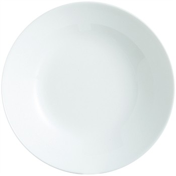 White Zelie Soup Plate