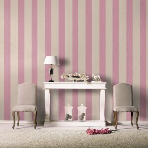 Florentine Fabric Stripe Pattern Wallpaper
