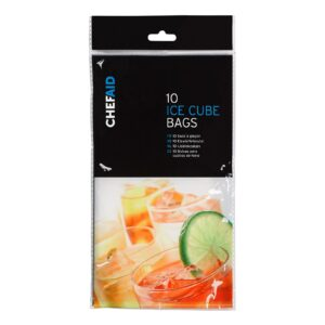 Pack of 10 Chef Aid Ice Cube Bags
