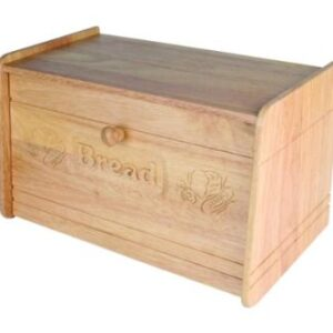 Apollo Housewares Wood Carved Bread Bin