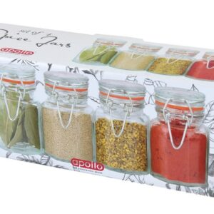 Apollo Housewares Clipseal Spice Jars Pack Of 4