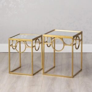 Avery Side Tables with Mirror Square