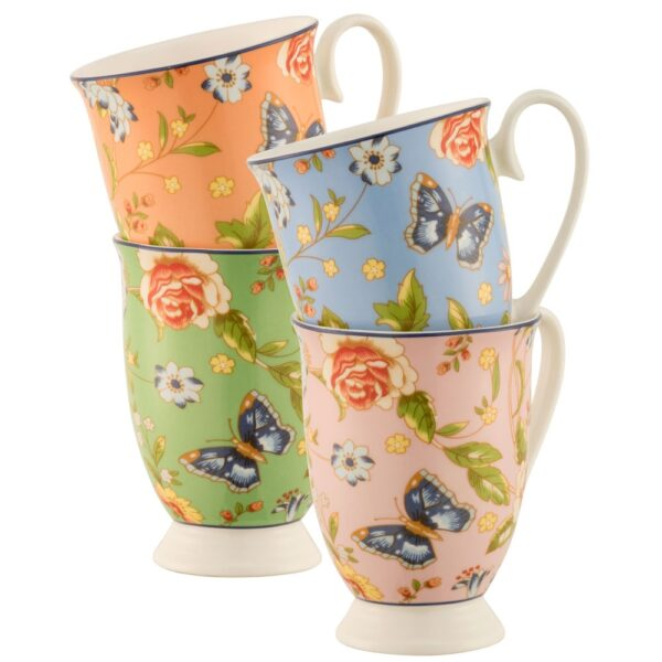 Belleek Aynsley Cottage Garden Set Of 4 Mugs