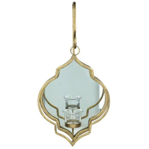 Gold Candle Holder Mirror