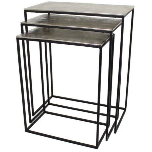 Silver Nest Of 3 Tables