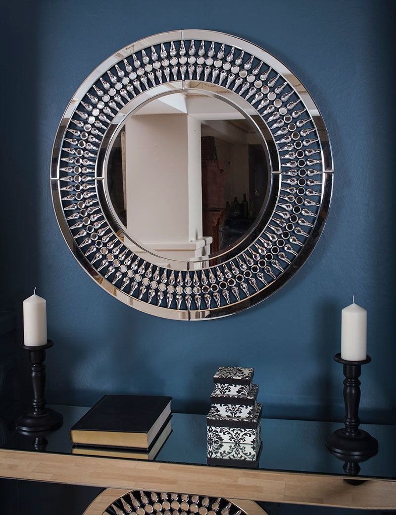 Living room accessories online ireland Crystal Console Table and Crystal Mirror