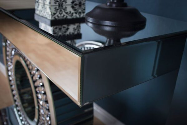 Crystal Console Table and Crystal Mirror
