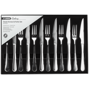 Judge Steak Knife And Fork 12 Piece Set