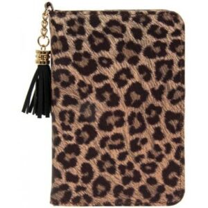 Lesser & Pavey Leopard Print Passport Holder