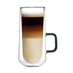 Ravenhead Double Wall Designer Glass Latte Mugs Set Of 2