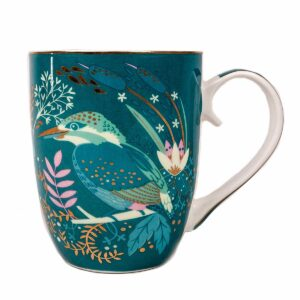 Tipperary Crystal Single Birdy Mug - Kingfisher