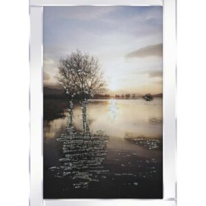 Lake With Trees Mirrored Frame