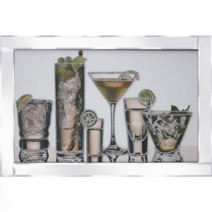 Cocktails Galore Mirrored Frame