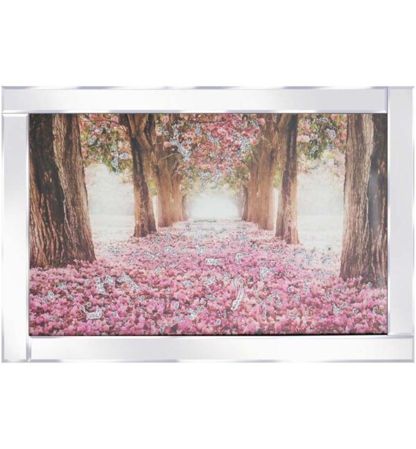 Flower Bed & Trees Mirrored Frame