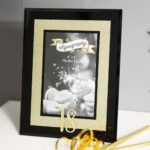 Signography 18th Gold Glitter Frame