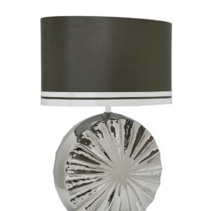 Chrome Ribbed Table Lamp