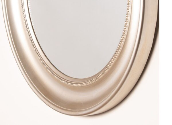 Lena Wall Mirror Beaded Round Champagne
