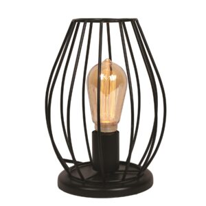 Black Cage Table Lamp.