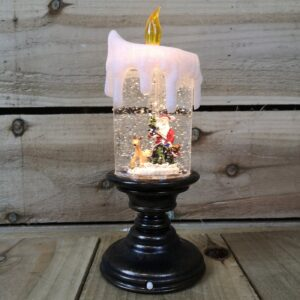 Snowtime B/O 25cm LED Water Candlestick With Santa