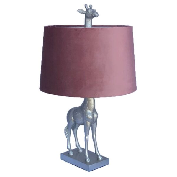 Fern Cottage Gold Giraffe Lamp