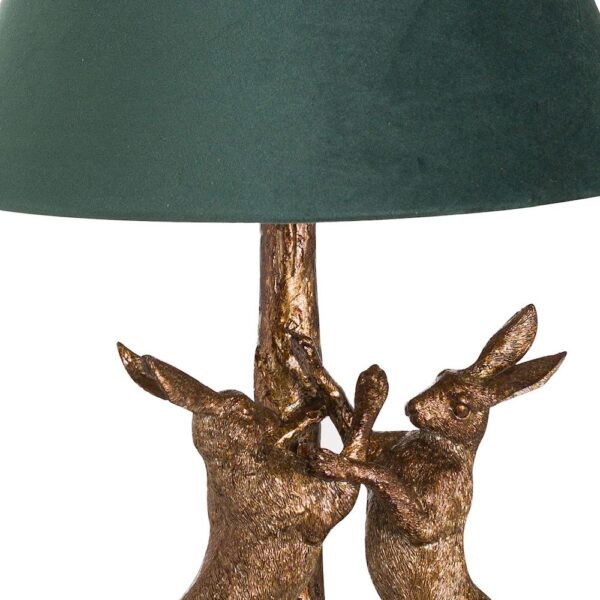 Fern Cottage Marching Hares Lamp