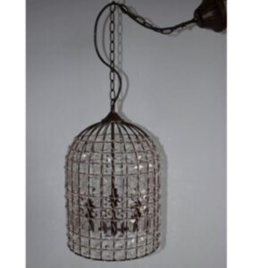 Fern Cottage Crystal Ceiling Light