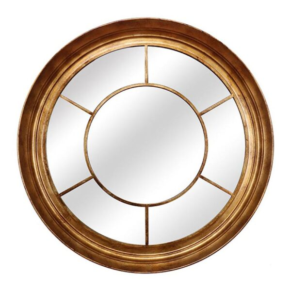 Fern Cottage Round Window Mirror - Gold