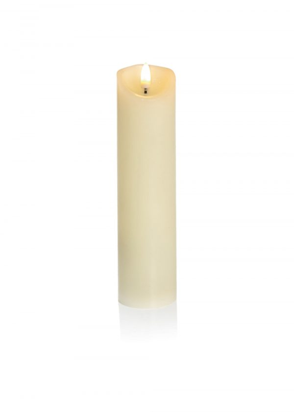 Flickabrights 20cm Warm White Battery Operated Candle
