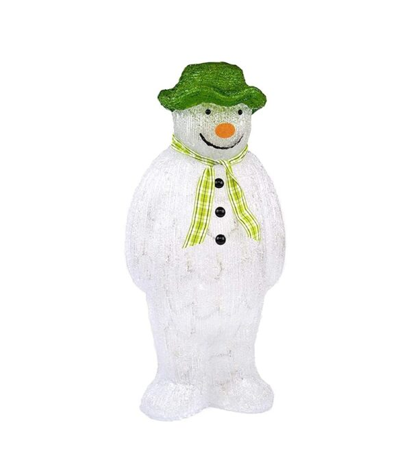 55cm The Snowman Acrylic Figure with 100 Ice White LEDs