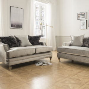 Belvedere 2 Seater Pewter With 3 Scatter Cushions