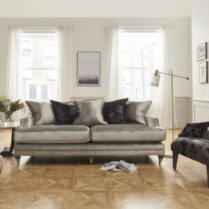 Belvedere 4 Seater Champagne With 5 Scatter Cushions