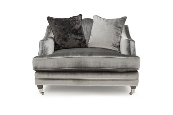 Belvedere Snuggle Pewter With 2 Scatter Cushions