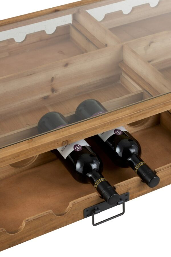 Coffee Table and Wine Bottle Holder.