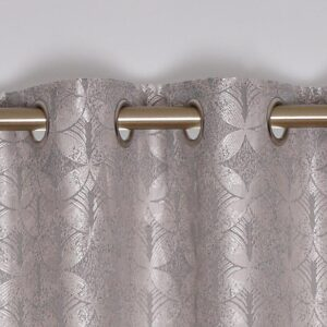 Brittany Interlined Eyelet Curtains - Silver