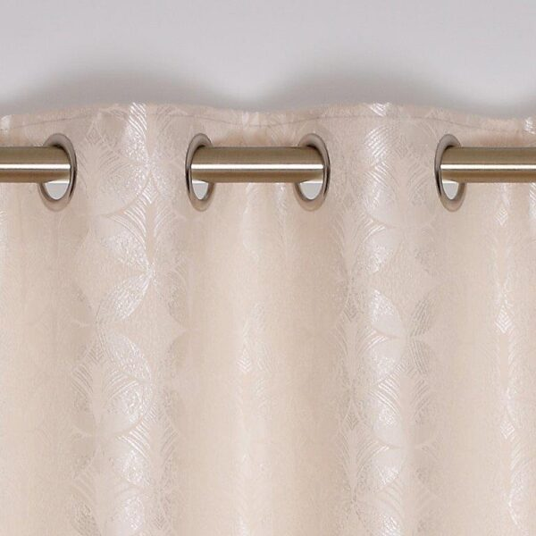Brittany Interlined Eyelet Curtains - Sand