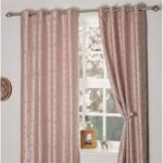 Brittany Blossom Interlined Eyelet Curtains - Pink
