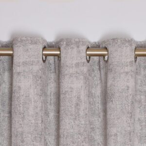 Fiesta Interlined Eyelet Curtains - Silver