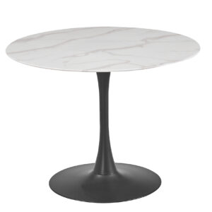 Circe Marble Glass Top Dining Table.