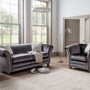 Giselle 1 Seater - Charcoal - 1 Scatter