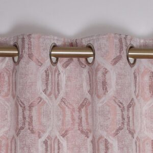 Sultan Interlined Eyelet Curtains - Dusty Pink