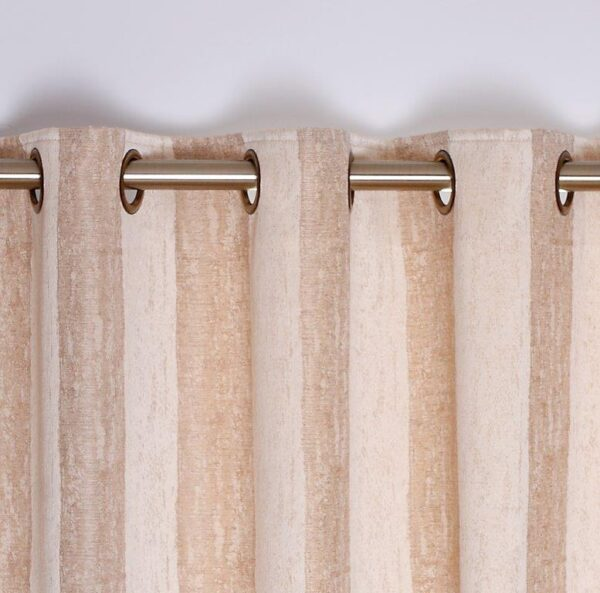 Toulon Interlined Eyelet Curtains - Sand
