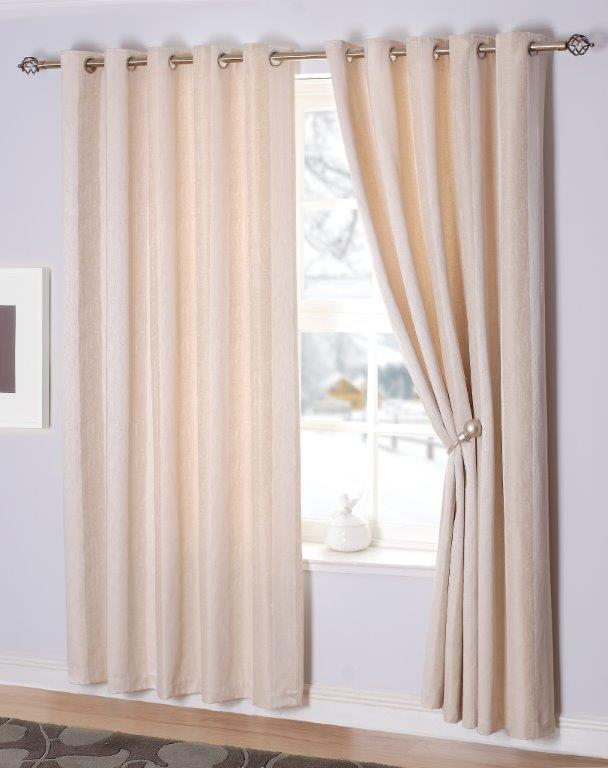 Toulon Interlined Eyelet Curtains - Champagne