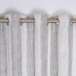 Toulon Interlined Eyelet Curtains - Silver
