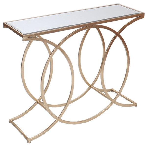 Fern Cottage Gold Circle Console Table