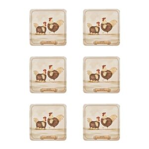 Denby Set of 6 Derbyshire Redcap Coasters