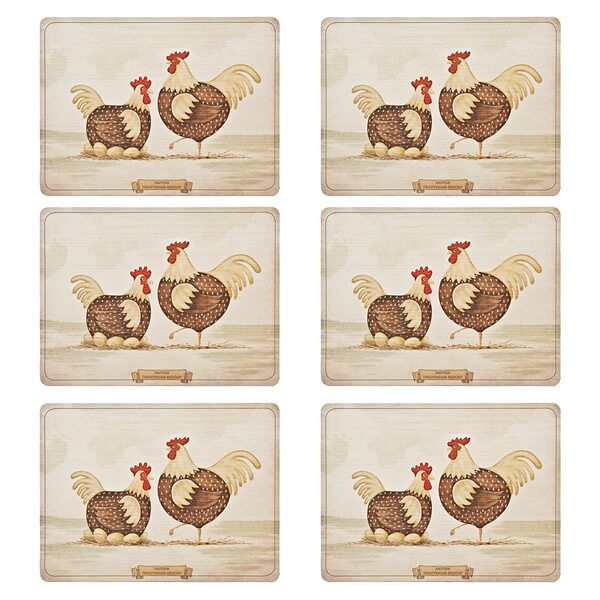 Denby Derbyshire Redcap Placemats Set Of 6