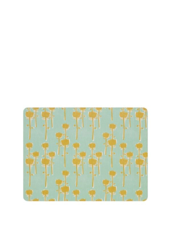 Denby Retro Floral Set of 6 Placemats, Green