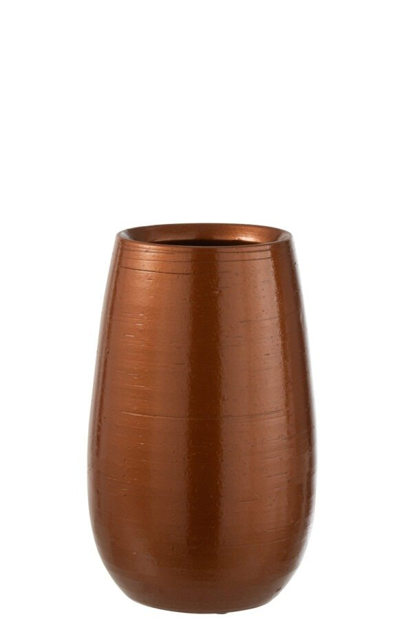 Vase Shiny Ceramic Rust 7320